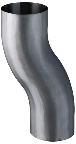 Zink QUARTZ Sockelknie Ø100/60mm