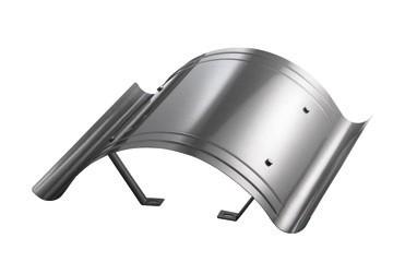 Kaminhaube leichte AusführungEdelstahl 1,00 mmKaminmaß : 400x400Haubenmaß: