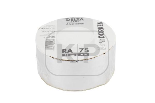Delta-Band Aluminium-farben 75 mm1 Rolle 10 m