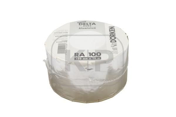 Delta-Band Aluminium-farben 100 mm1 Rolle 10 m